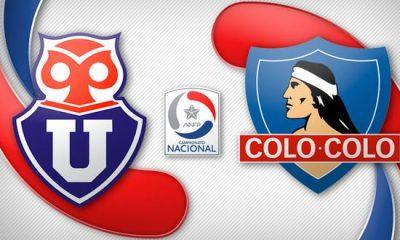 Siga acá online el superclásico chileno U de Chile vs Colo Colo