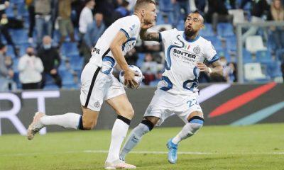 Arturo Vidal jugó en la victoria del Inter ante el Sassuolo
